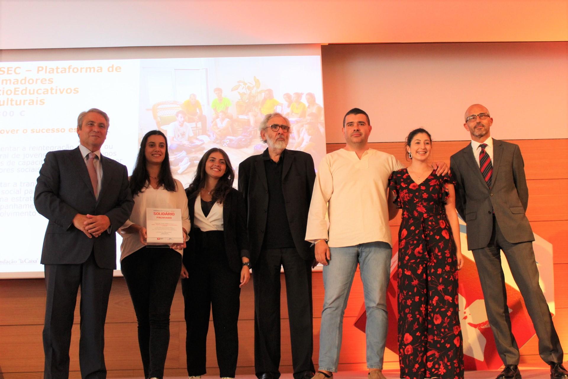 Durante a entrega do prémio no CCB em Lisboa